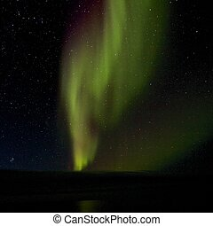 Aurora Borealis over the Lagoon 1 - Amazing Aurora Borealis,...