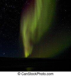 Aurora Borealis over the Lagoon 1 - Amazing Aurora Borealis,...