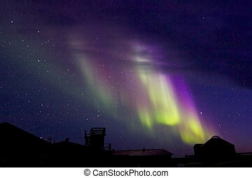 Aurora Borealis over the Lodge 1 - Amazing Aurora Borealis,...
