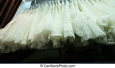 Salon wedding dresses - Series of expensive wedding dresses...