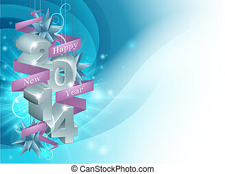 Happy New Year 2014 Background - Illustration of a Happy New...