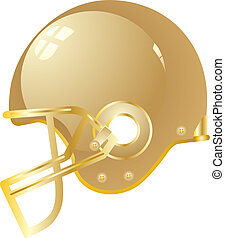 Football helmet gold vector eps 10