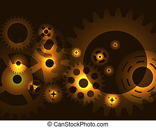 Machine Gear Wheel Cogwheel  pattern. Vector illustration.