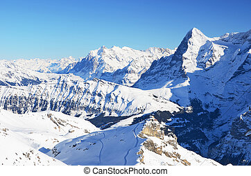 Eiger, famous Swiss mountain peak