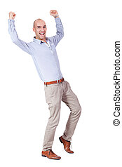 young adult attractive businessman smiling portrait isolated