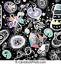 Abstract Seamless Pattern - Vector seamless pattern...