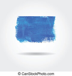 Watercolor vector banner with place for your text. Cold blue colors.