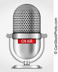 Microphone On The Air - Microphone on the air, vector eps10...
