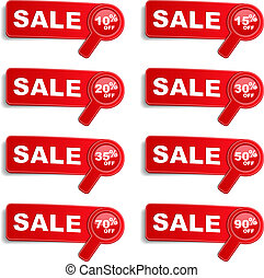 Sale Banners - Set of sale banners with different discounts,...