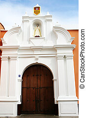 Trujillo Church - The exterior doors of a beautiful colonial...