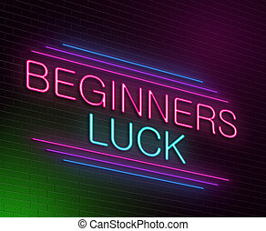 Beginners luck concept - Illustration depicting an...