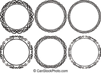 round frames - set of round frames - design elements
