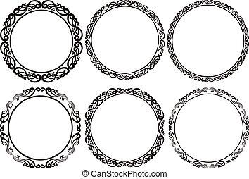 round frames - set of round frames - design elements