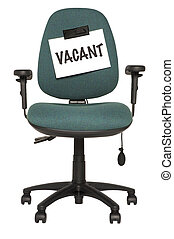 vacant seat - green office chair with vacant sign