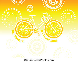 Travel bicycle postcard
