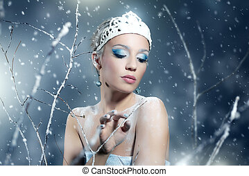 Winter Queen on dark background