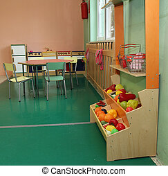 nursery with stand and kitchen toy - Salon of a nursery with...