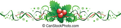 holly banner - christmas holly banner