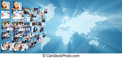 Business networking collage - Business networking college...
