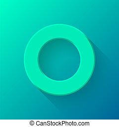 Emerald Abstct Technology Volume Button Template - Emerald...