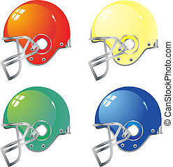 Football helmet color vector eps 10