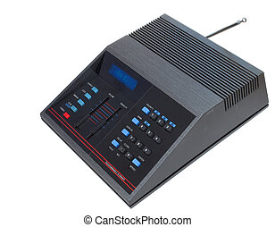 Scanner for listing to police radio transmissions and the...