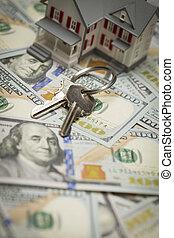 House and Keys on Newly Designed One Hundred Dollar Bills -...