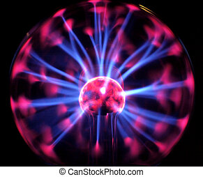 Plasma light - Plasma light, electrical sphere lamp in the...