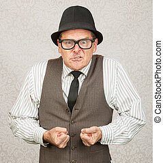 Insulted Businessman - Insulted white male with eyeglasses...