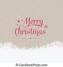 merry christmas winter snowy background - merry christmas...