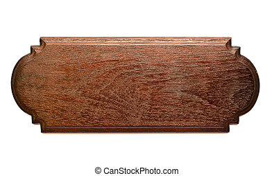 Teak Wood Plank - Isolated Brown Teak Wood Plank