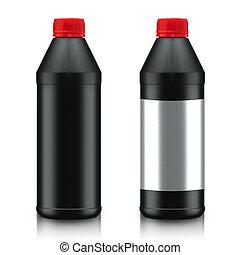 Oil Bottle - Black Oil Bottle isolated on white background...