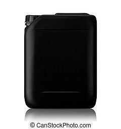 Plastic gallon - Black plastic gallon, jerry can isolated on...