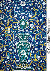 Tiled background with oriental ornaments