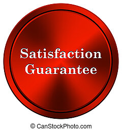 Satisfaction guarantee icon - Metallic icon with white...