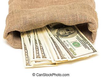 dollars in sack