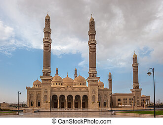 Al Saleh mosque in Sanaa, Yemen