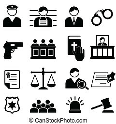 Legal, justice and court icons - Legal, justice and court...