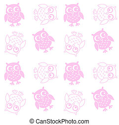 seamless owl pattern background