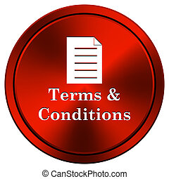 Terms and conditions icon - Metallic icon with white design...