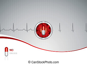 Anti drug medical backgroundVector