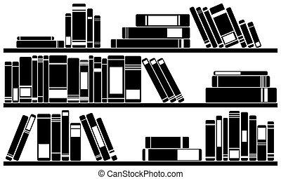 Bücherregal clipart schwarz weiß  Bücherregal buecher Illustrationen und Clip-Art. 7.287 Bücherregal ...