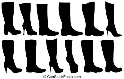 boots - set of different boots