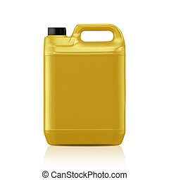 Plastic gallon - Yellow plastic gallon, jerry can isolated...