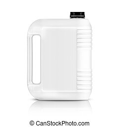 Plastic gallon - White plastic gallon, jerry can isolated on...