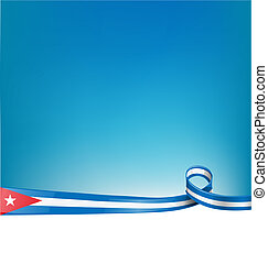background with cuba ribbon flag