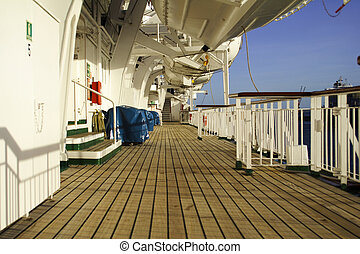 Cruise Ship - Cruise ship deck exterior.