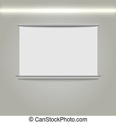 Whiteboard. - Whiteboard, vector