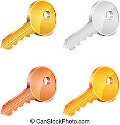Vector illustration of keys set