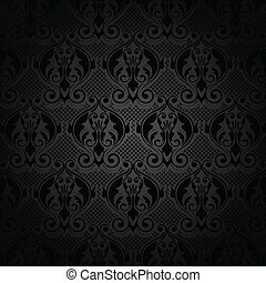 Vector black lace pattern